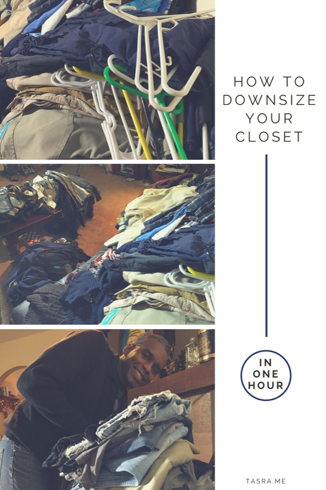 how to downsize your closet in one hour
