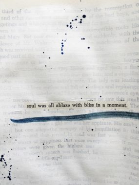 art journal found poetry page image
