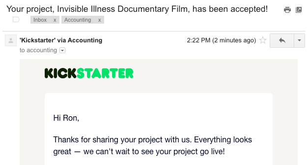 kickstarter project - invisible illness film