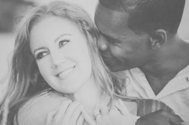 black, white, couple, loving